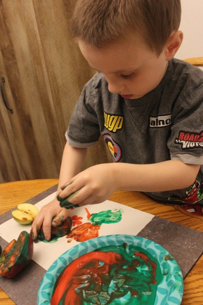 Apple Stamping Sensory Activity