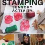 Apple Stamping Sensory Activity for Preschoolers