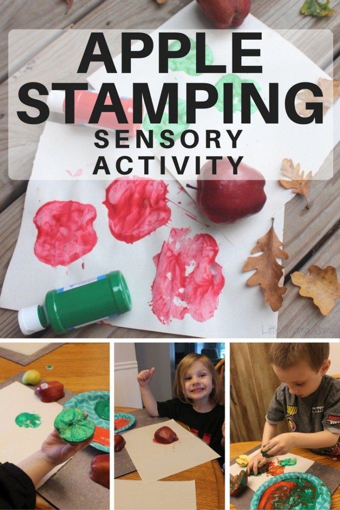 Apple Stamping Sensory Activity for Preschoolers