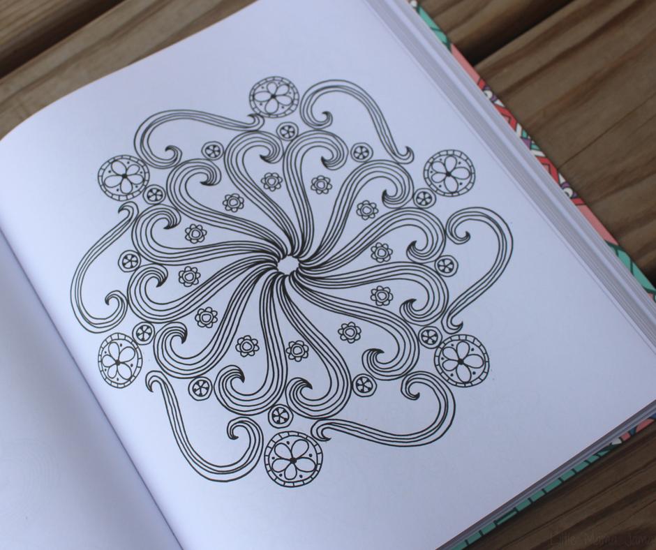 Adult Coloring Book Mandala