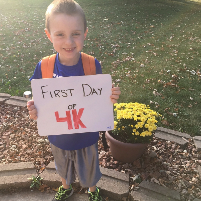First Day of School 4K