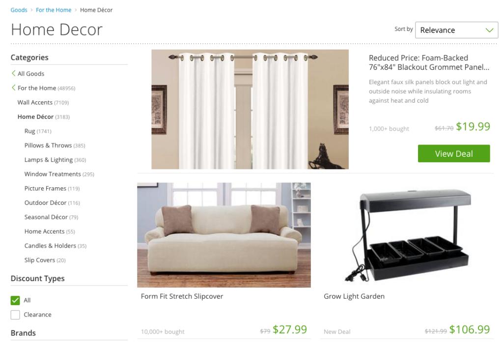 Groupon Goods Home Decor