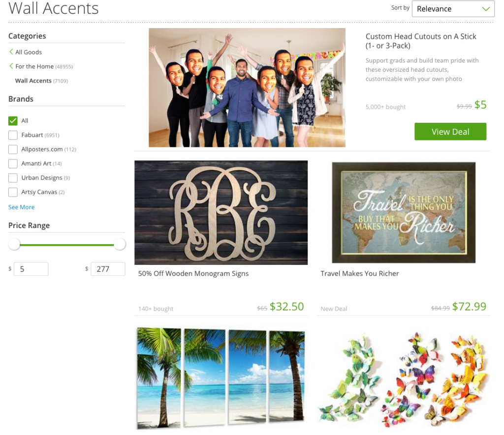 Groupon Goods Home Decor Wall Accents