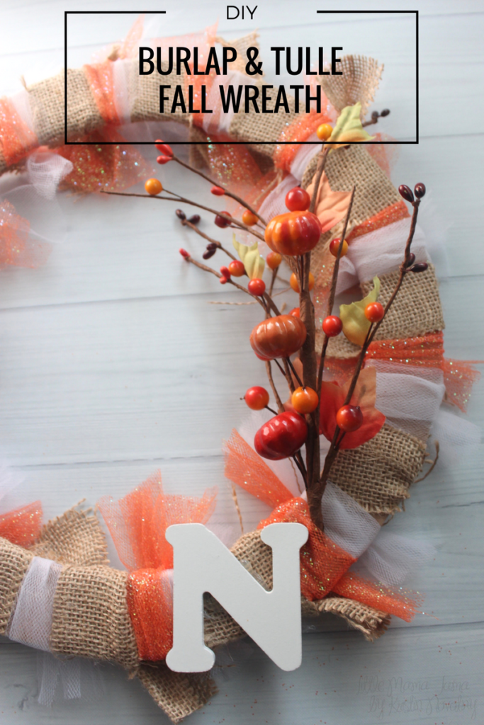 DIY Burlap and Tulle Fall Wreath