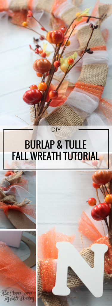 DIY Burlap and Tulle Fall Wreath Tutorial