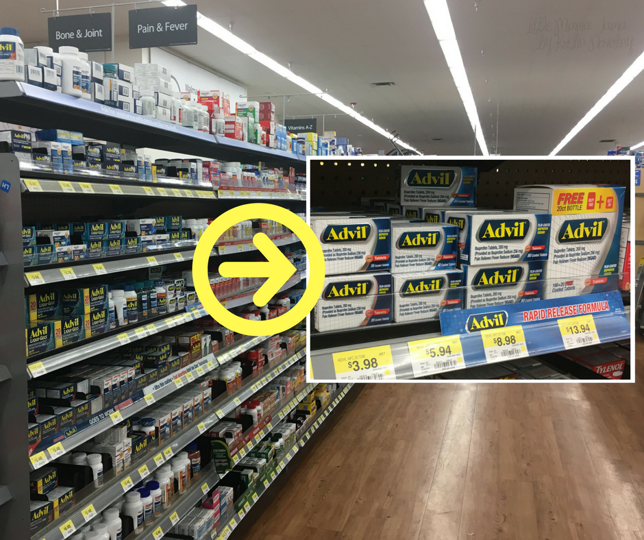 Advil® Film-Coated tablets at Walmart #RaceDayRelief #ad