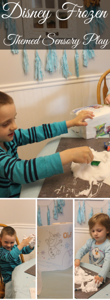 Disney Frozen Themed Sensory Play #QuickerPickerUpper #DisneyFrozen #AD