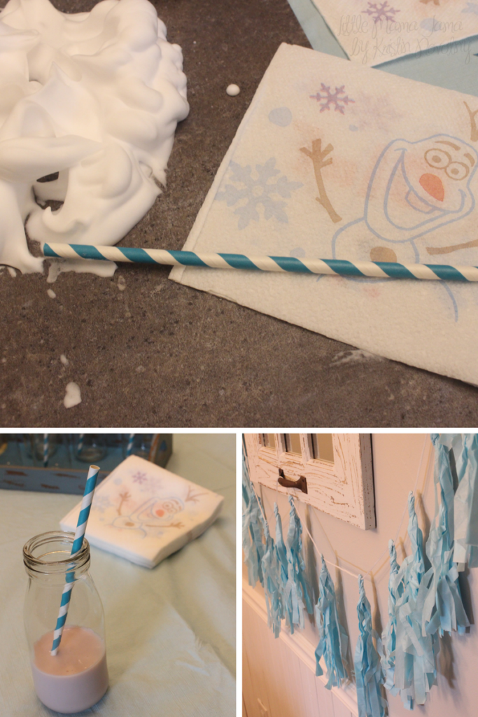 Elements we used for our Disney Frozen Themed Sensory Activity #QuickerPickerUpper #DisneyFrozen #AD