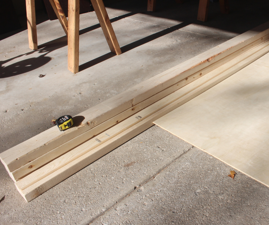 Here's the lumber we used to make our wooden ramp for our kids to race their cars. #RaceDayRelief #ad