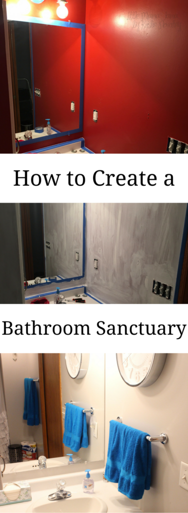 How to create a bathroom sanctuary and brighten your space! #EnjoyTheGo #ad