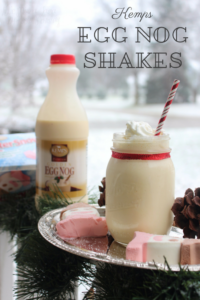 Egg Nog Shakes are easy to make with this recipe using Kemps! #ItsTheCows #ad