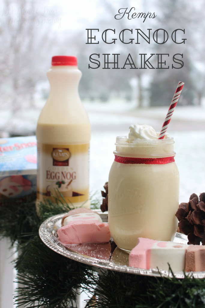 Eggnog Shakes are easy to make with this recipe using Kemps! #ItsTheCows #ad
