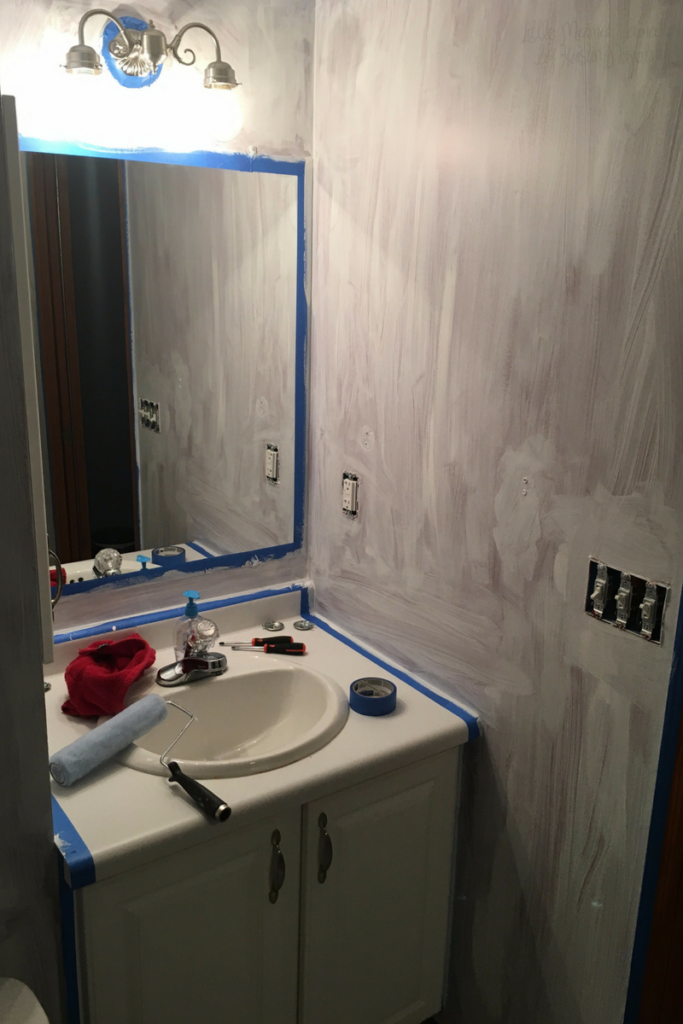 Prime the bathroom walls before painting and creating your bathroom sanctuary #EnjoyTheGo #ad