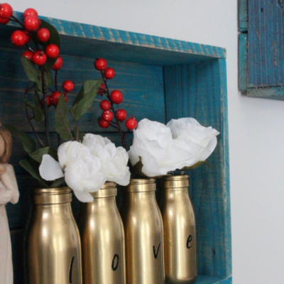 DIY Gold Milk Bottle Vases