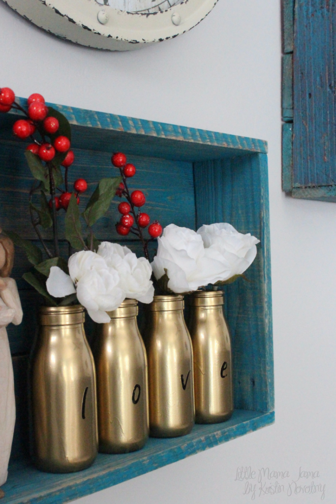 Easy DIY glass milk bottle vases for personalized rustic home decor