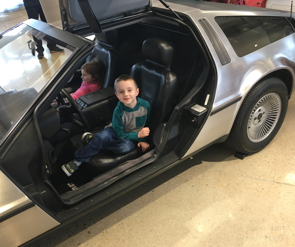 Sit in a DeLorean at The Automobile Gallery in Green Bay