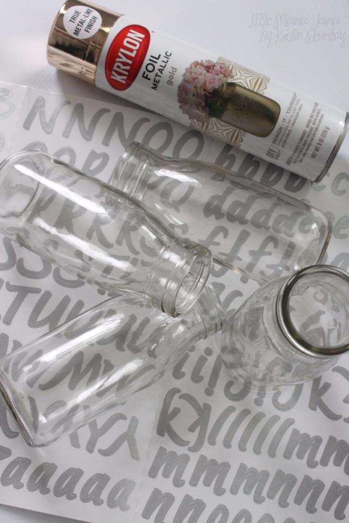 Easy DIY Glass Milk Bottle Vases for Rustic Home Decor
