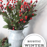 Cozy Living Room Decor & a Rustic Winter Bouquet