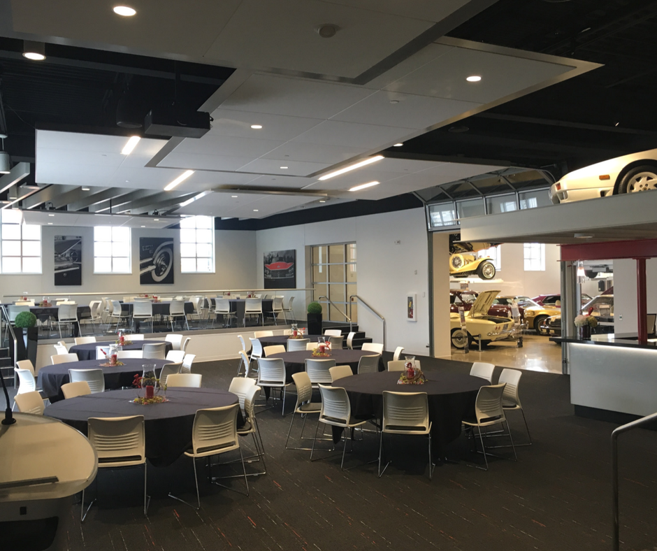 Event space at The Automobile Gallery in Green Bay