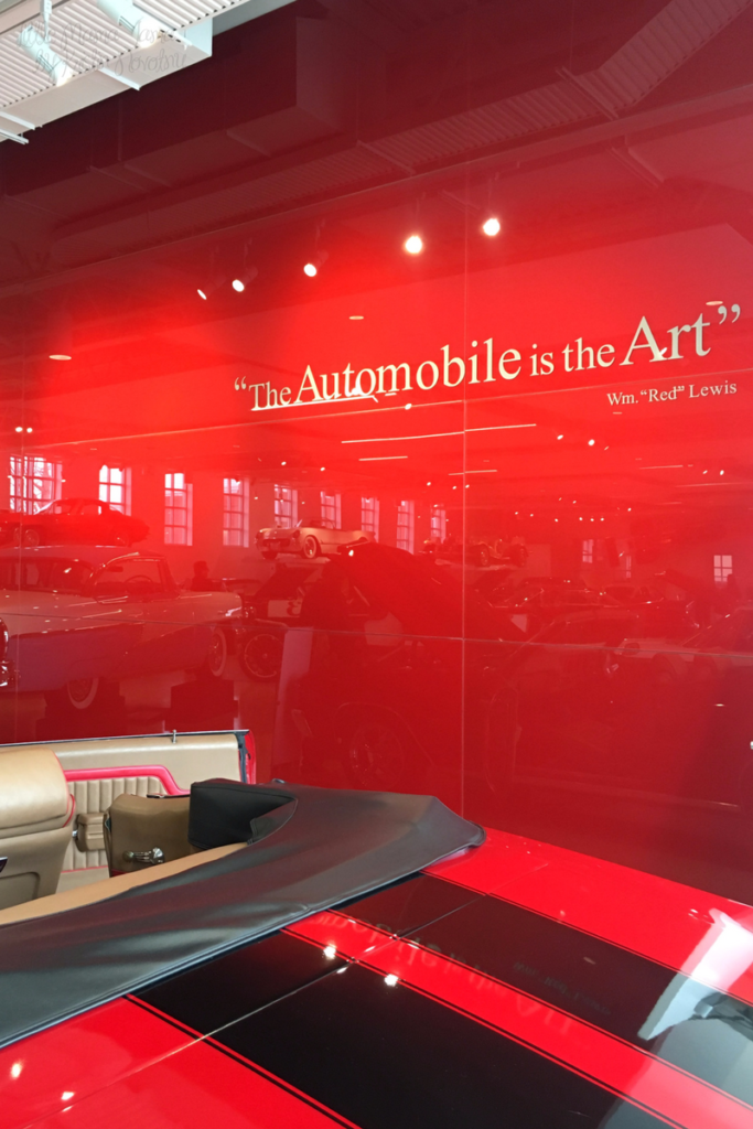 """""""The Automobile is the Art."""" -Wm. """"Red"""" Lewis"""