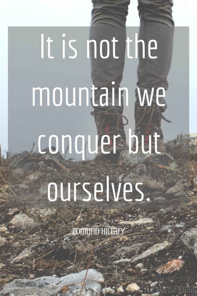 It is not the mountain we conquer but ourselves. – Edmund Hillary