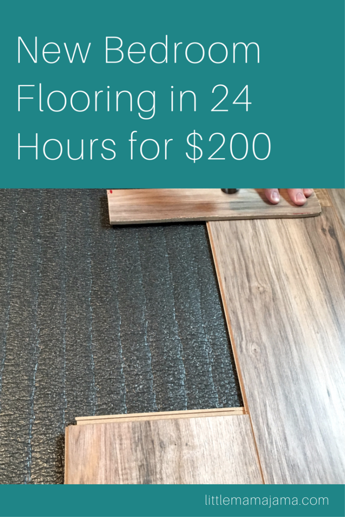 How to Install New Bedroom Flooring in 24 Hours for $200
