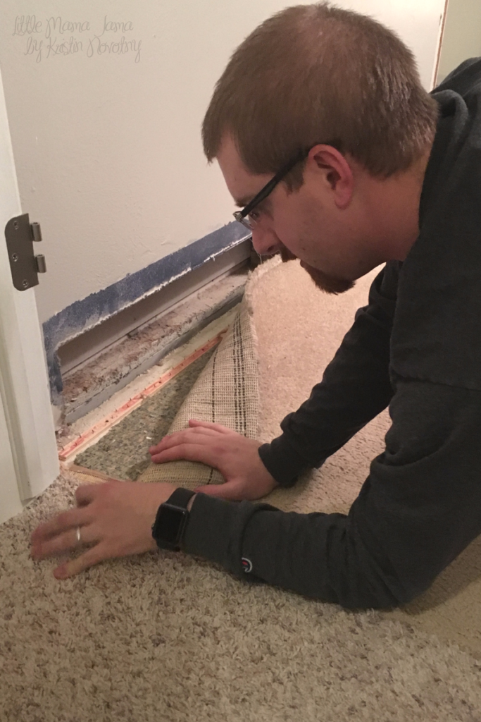 How to Install New Bedroom Flooring in 24 Hours for $200 - Step 2, remove carpet!