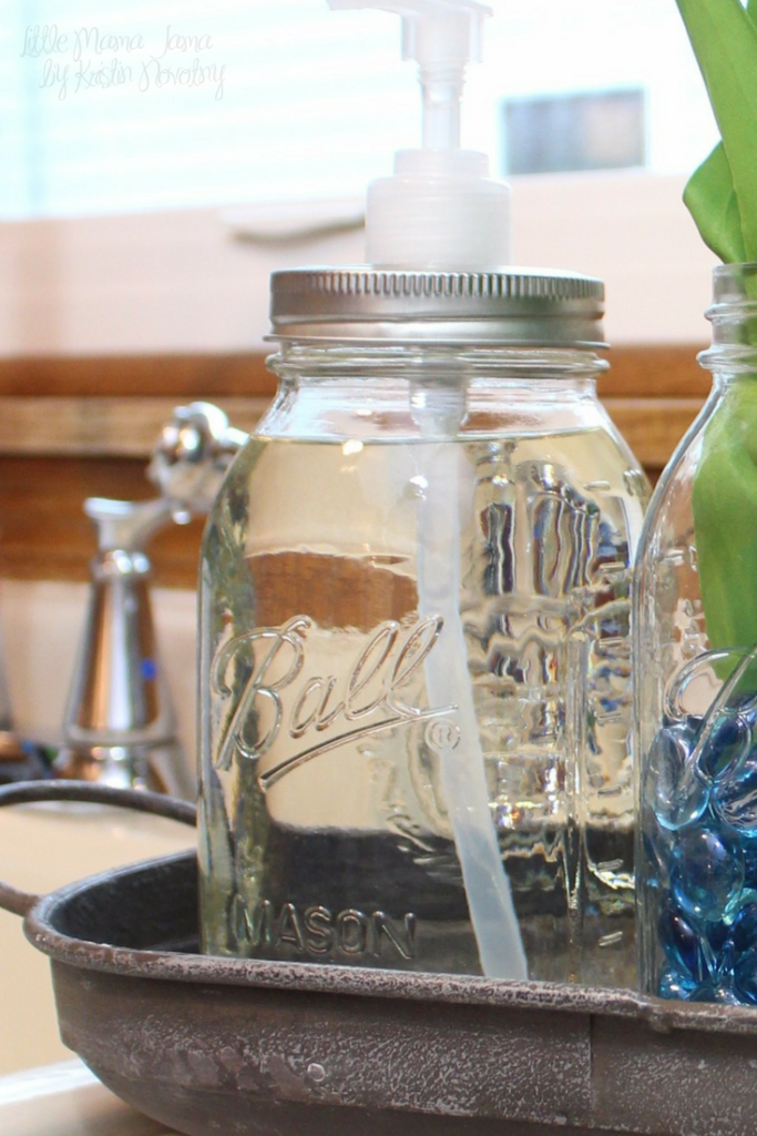 Use mason jars to create a rustic kitchen soap tray! #EverydaySaves #ad