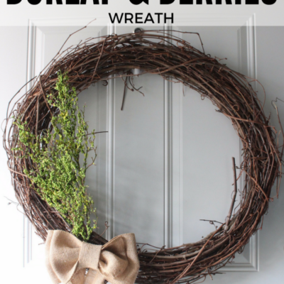 Rustic Burlap & Berries Wreath