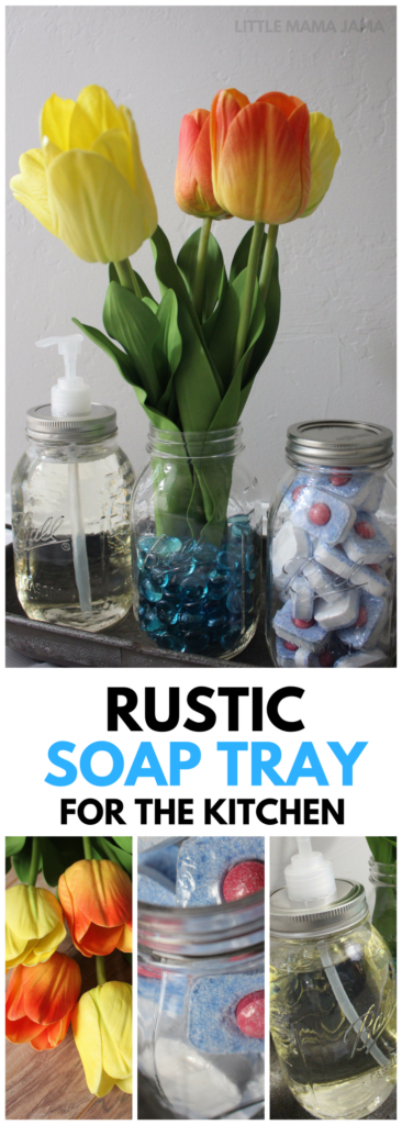 Create a Rustic Soap Tray for the Kitchen to Brighten Your Space! #EverydaySaves #ad