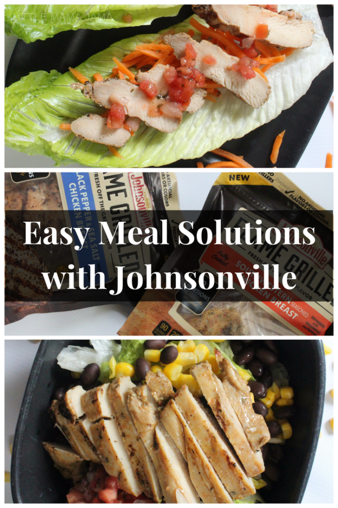 You don't need time for meal prep with these quick and easy meal solutions with Johnsonville chicken! #ad