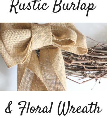Rustic Burlap and Hydrangea Wreath
