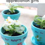 Fingerprint Flower Pot Teacher or Therapist Appreciation Gift