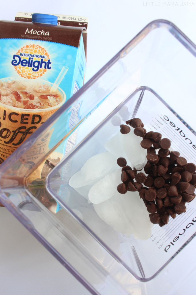 Treat yourself with a Mocha Chip Frappe or Caramel Macchiato Frappe! These frappe recipes are simple to make at home. #FoundMyDelight #ad