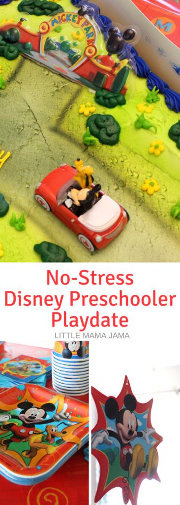 Here's how to host an easy, no-stress Disney Preschooler Playdate! #DisneyKids #ad