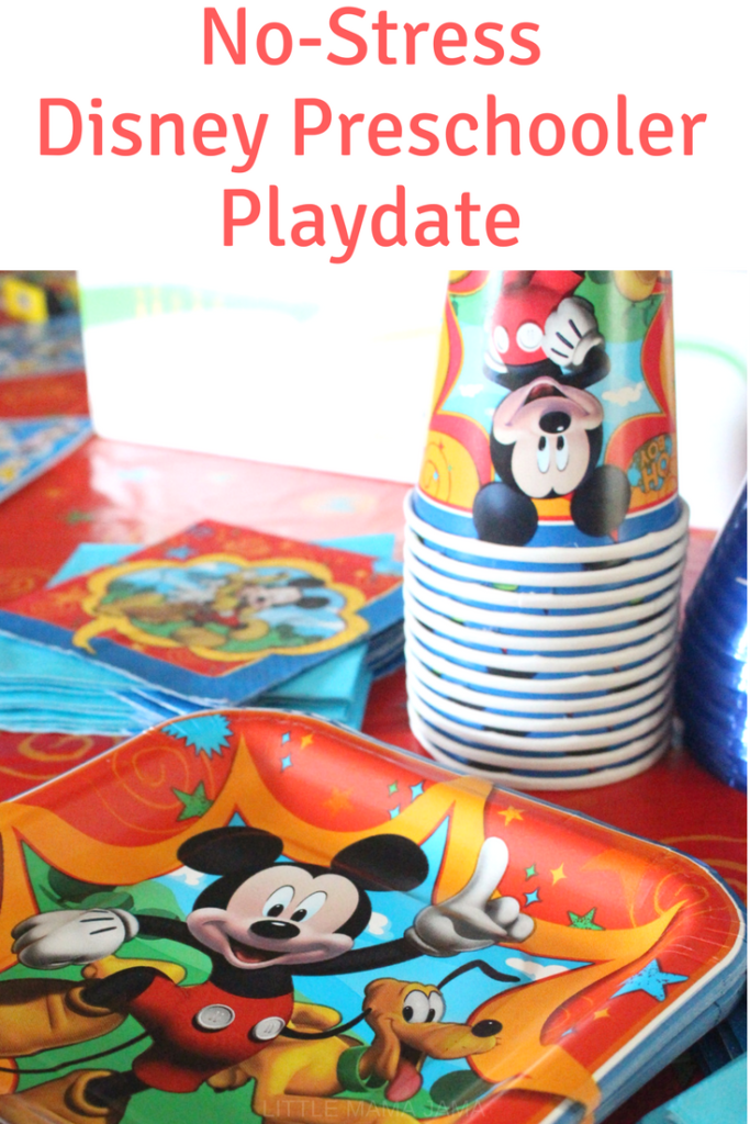 Here's how to host an easy, no-stress Disney Preschooler Playdate! #DisneyKids #ad