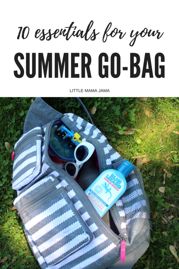 Spend less time getting ready to leave and more time adventuring with these 10 essentials for your summer go-bag! #BlueLizardSummer #ad