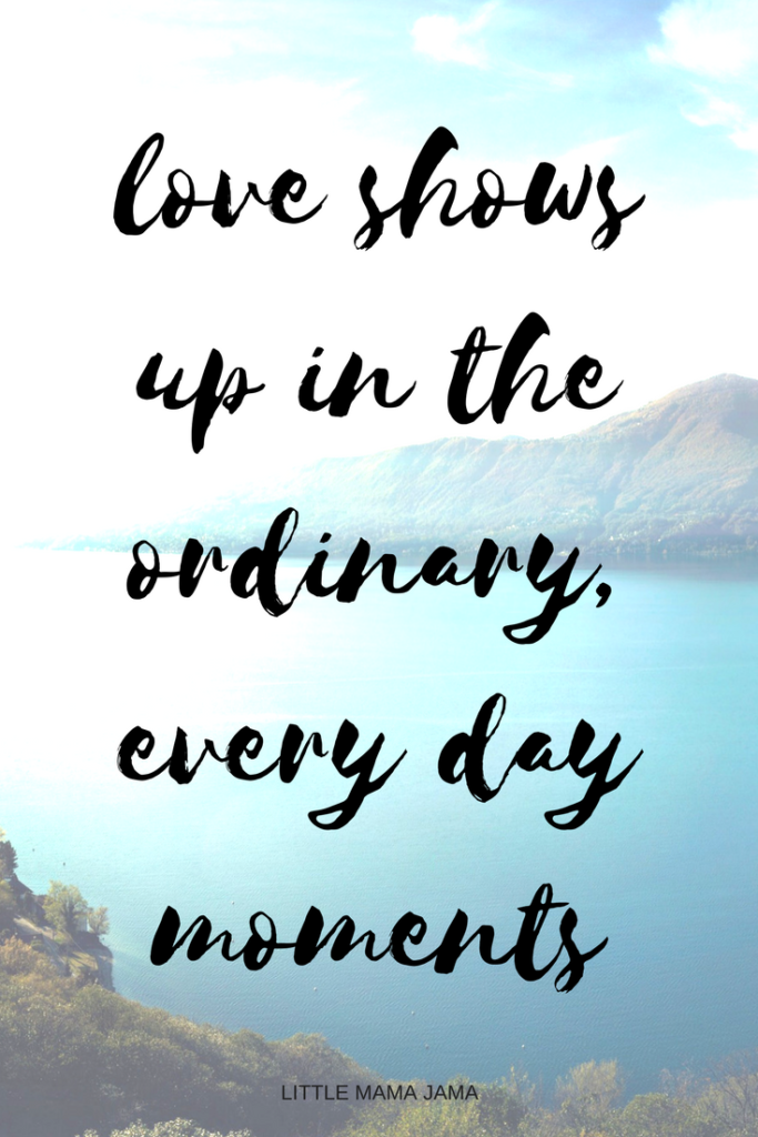 Love shows up in the ordinary, every day moments. A letter to my husband on our anniversary.