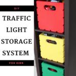 DIY Traffic Light Storage System for Kids