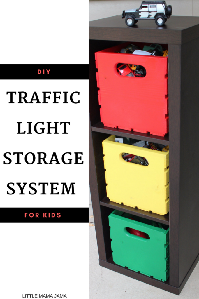 DIY Traffic Light Storage System for Kids