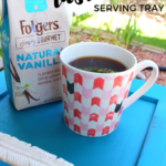 Upcycle a Cabinet Door into a Rustic Teal Serving Tray