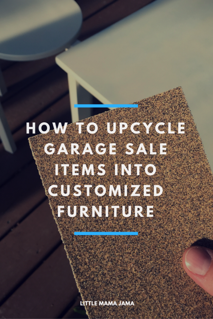 How to upcycle garage sale finds into customized living room furniture! [ad]