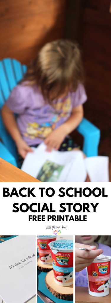 Use this Back to School social story printable to prepare your kids for the school year! This free printable is a great social story for kids with anxiety, autism or other special needs. #HorizonLunch [ad]