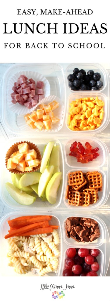 Use bento boxes to create these easy, make-ahead school lunches! [ad]