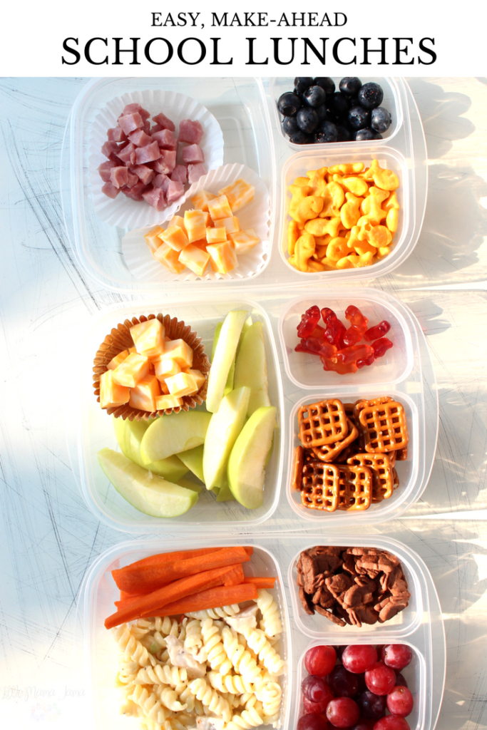 easy make ahead school lunches little mama jama