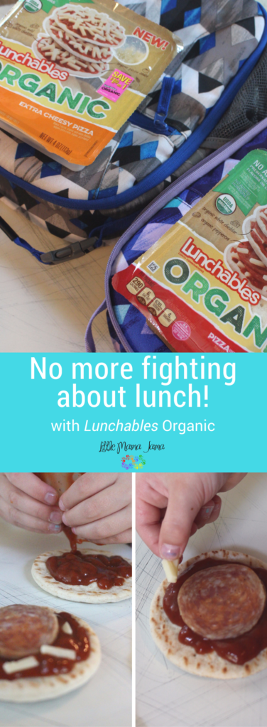 No more fighting about lunch! The one thing my kids and I can agree on is LUNCHABLES Organic, and they love putting together their own school lunch! #LunchablesOrganic
