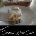Gluten-Free Coconut Lime Cake with Lime Cream Cheese Frosting