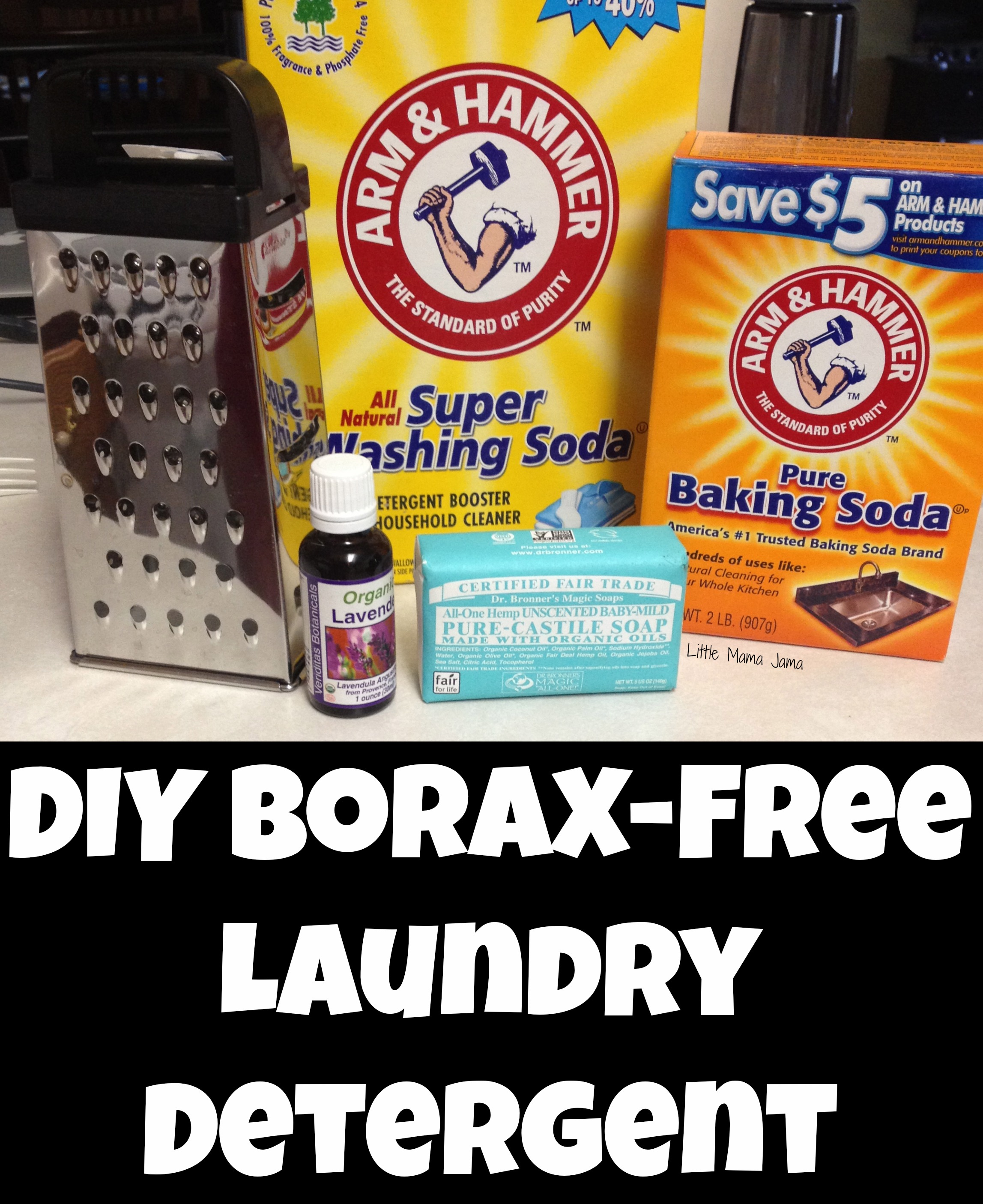 Natural, DIY Borax-Free Laundry Detergent