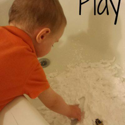 Sensory Play: Shaving Cream and Cars