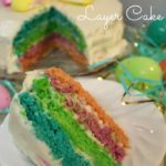 Easy, Colorful Layer Cake for Easter